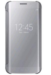 Clear View Cover für Galaxy S6 silber