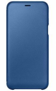 Wallet Cover für Galaxy A6 (2018) blau