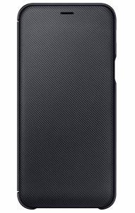 Wallet Cover für Galaxy A6 (2018) schwarz