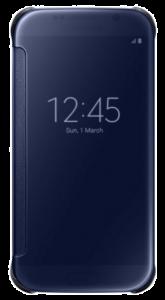 Clear View Cover für Galaxy S6 schwarz