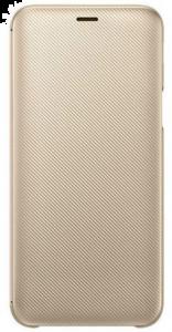 Wallet Cover für Galaxy J6 gold